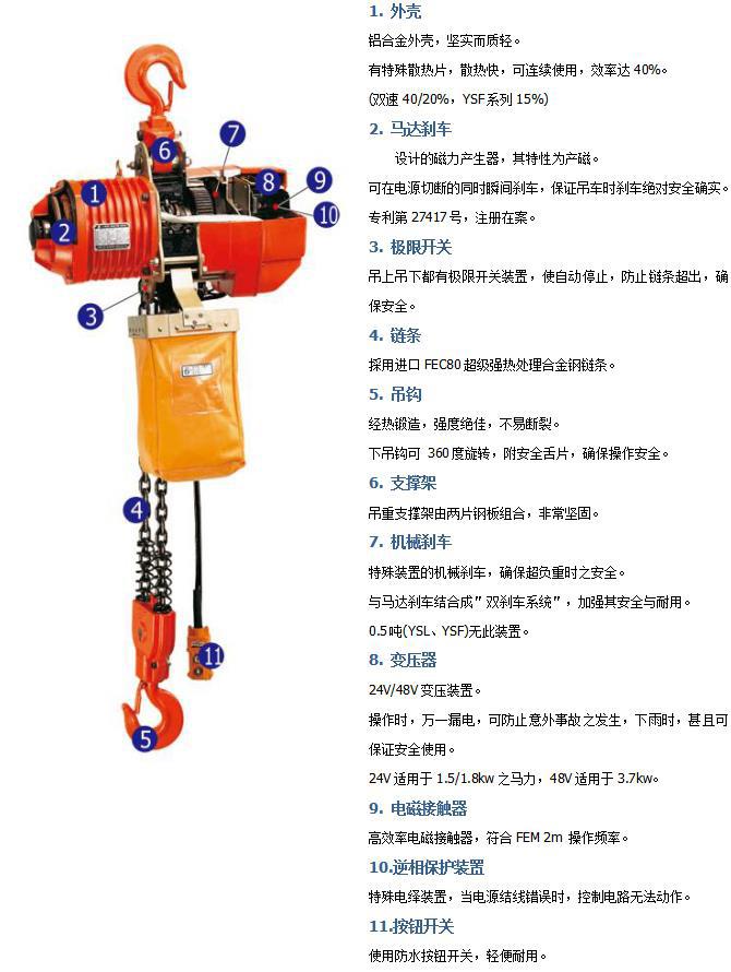 台湾黑熊电动葫芦链条
